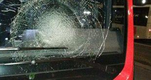 De vernielde busruit op de Heerbaan.