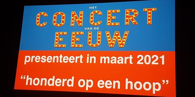 Affiche Concert van de eeuw met datum
