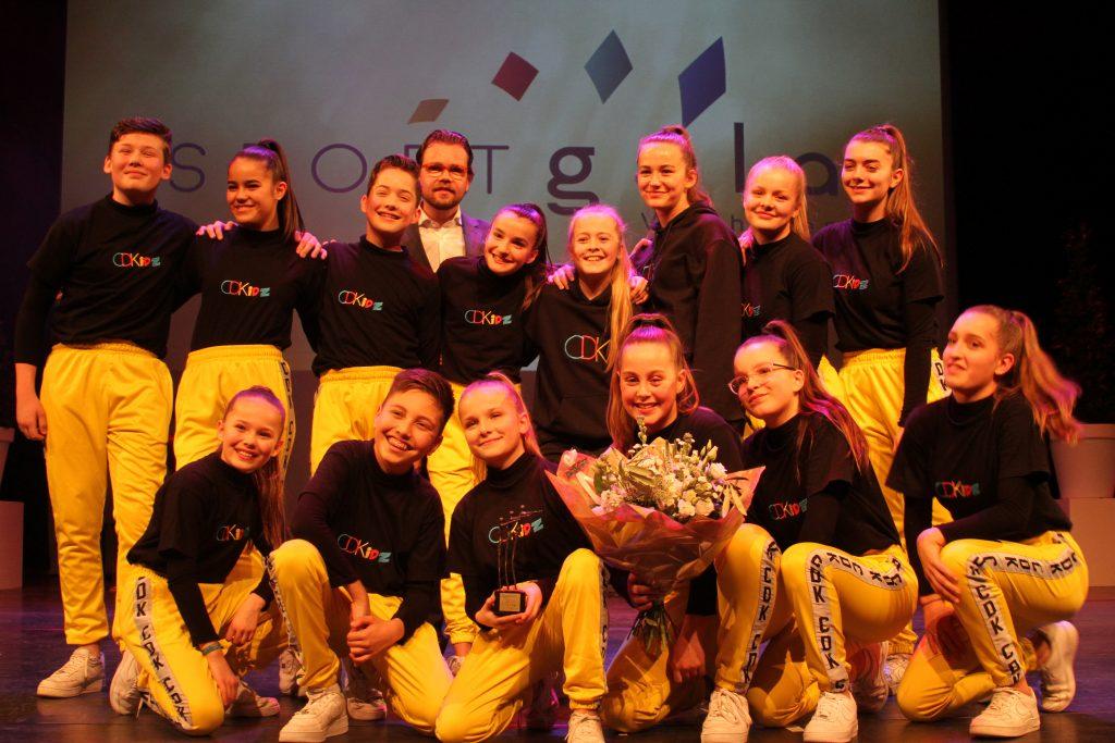 De dansers van CD Kidz de foto is van John van de Kerkhof