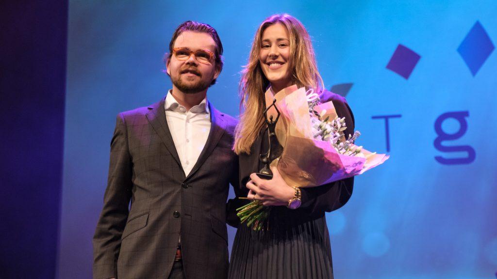 Daan de Kort en schoonsprinster Inge Jansen, de foto is van Harry Kleijnen