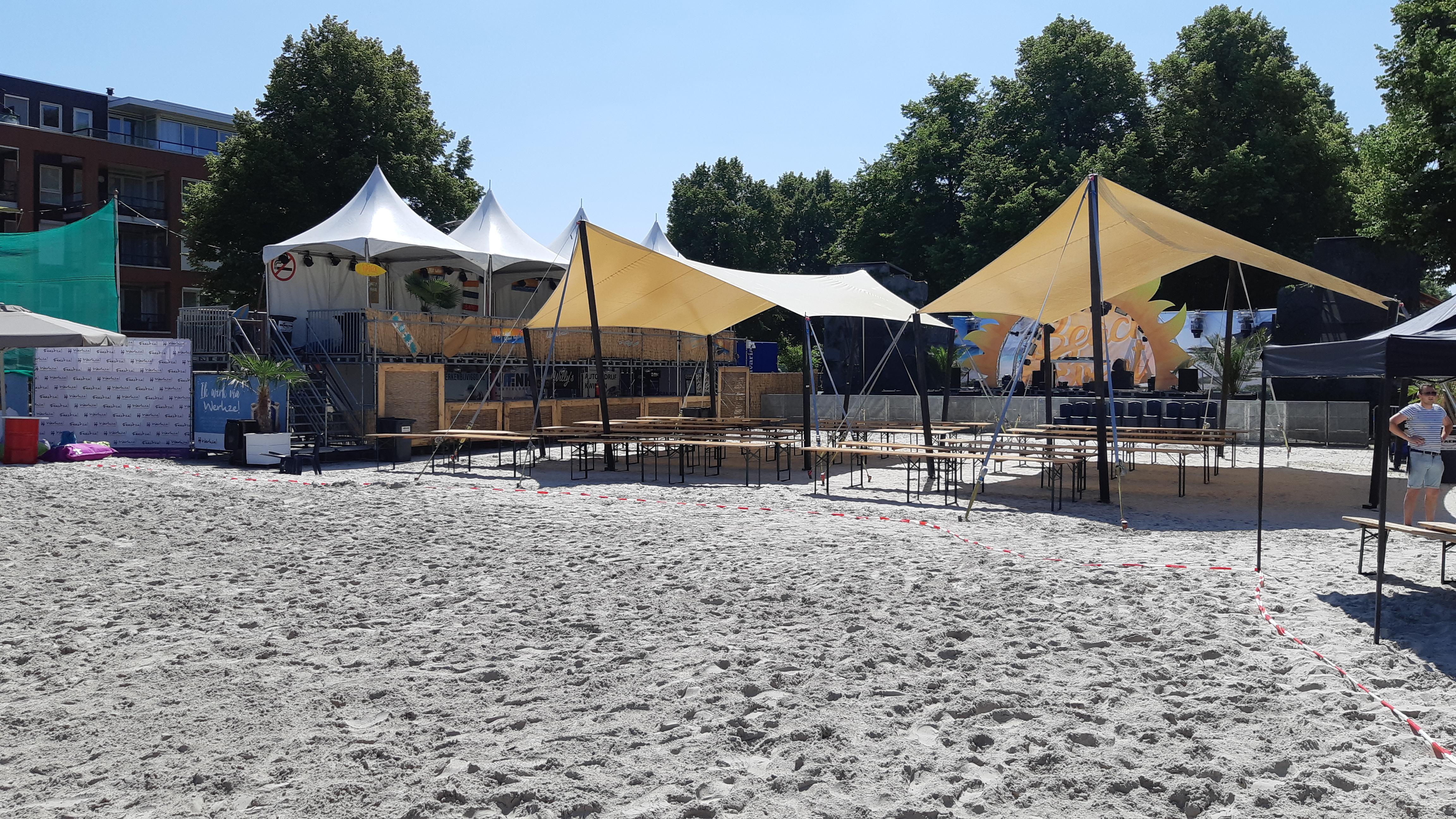 Opbouw van het beach Event