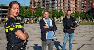 Ewout (midden) volgt de politie in RTL programma