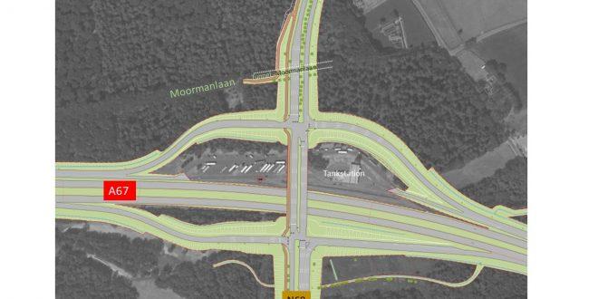 Luchtfoto van locatie tunnel Moormanlaan