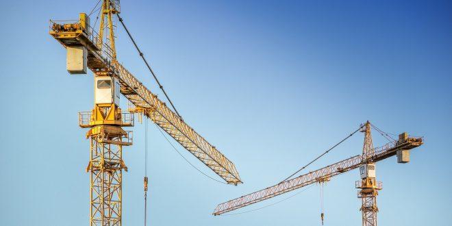 stockfoto van een bouwkraan
