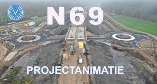 nieuwe weg N69 in aanbouw