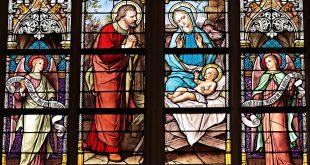 Kerk raam glas in lood