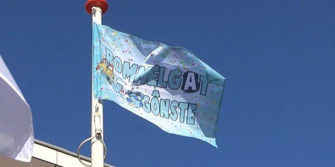 Vlag speciaal gemaakt voor carnaval